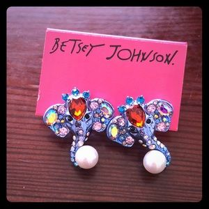 Betsey Johnson Elephant Critters Studs